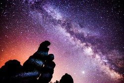 A beautiful milkyway on a night sky with stars and nice background