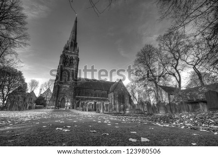 A beautiful Moody shot of a Church in Monton, England