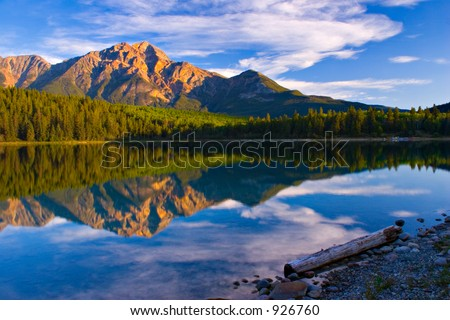 A beautiful morning on Patricia Lake, Jasper National Park.