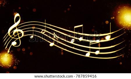 a beautiful musical score