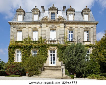 A beautiful old French chateau - stock photo