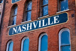 A Beautiful Old Nashville Sign Stands Proud
