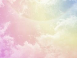 A beautiful pastel sky concept from nature