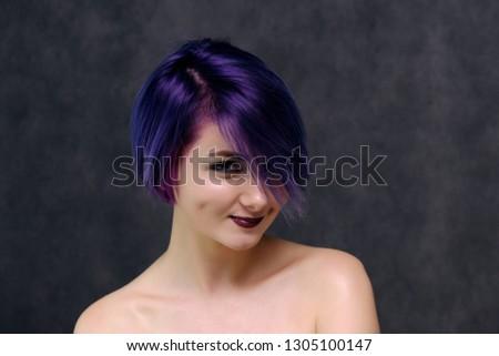 Purple haied girls naked
