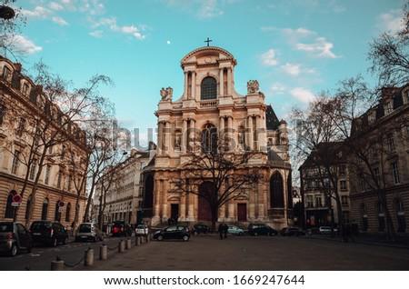 A beautiful shot of Église Saint-Gervais in Paris, France Photo stock ©