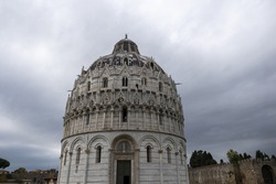 A beautiful shot of Pisa Baptistery in Pisa, Tuscany, Italy
