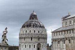 A beautiful shot of Pisa Baptistery in Pisa, Tuscany, Italy