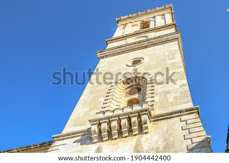 A beautiful shot of St  Paul's Pro-Cathedral in Independence Square, Valletta, Malta Stock photo ©