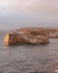 A beautiful shot of the cliffs in the Southwest Alentejo and Vicentine Coast Natural Park
