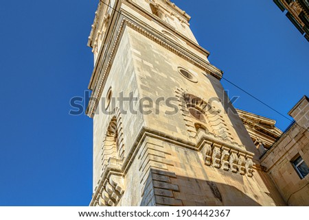 A beautiful shot of the St  Paul's Pro-Cathedral in Independence Square, Valletta, Malta Stock photo ©