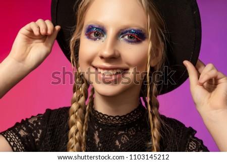 Teen hairstyle long hair