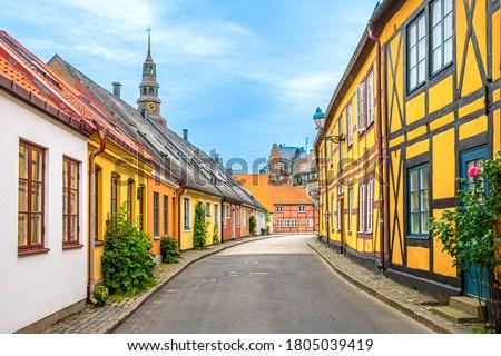 A Beautiful street in Ystad, Skåne, Sweden. August 29, 2020. Сток-фото ©