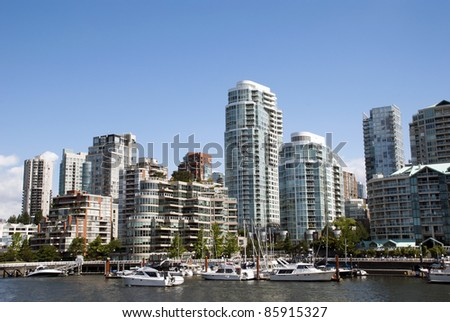 A beautiful summer day in Downtown of Vancouver Canada