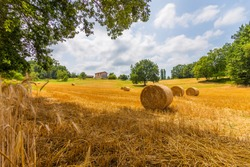 A beautiful summer day in the countryside of France