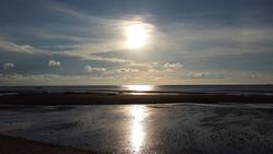 A Beautiful sunlight in Iloilo, Philppines