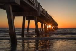 A beautiful sunrise at the Jacksonville Beach Fishing Pier
