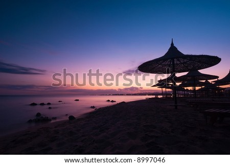 a beautiful sunset in sharm el sheikh, egypt