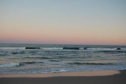 A beautiful sunset over the Atlantic Ocean, Assateague Island, Maryland.