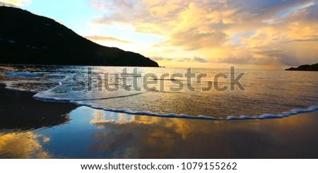 A beautiful sunset over Tortola British Virgin Islands #1079155262