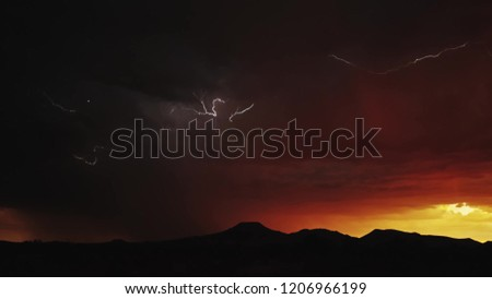 A beautiful thunder lightning picture , day