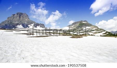 A Beautiful Valley at Glacier National Park
