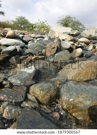 A beautiful Valley stream in a mountain called Fifa in Saudi Arabia.