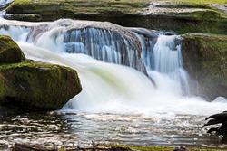 A beautiful Vancouver island waterfall