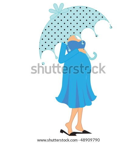 stock photo : a beautiful vector illustration of a pregnant woman under ...