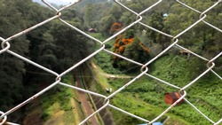 A beautiful view from other side of Mattupetty dam, munnar, kerala, India. This photograph is selectively focused to capture the beauty of nature.