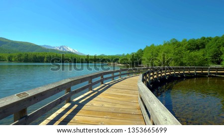 A beautiful View of Birth of a Lake Trail at Mount Saint Helens.  #1353665699