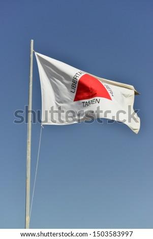 A beautiful view of Brazil state flag (Bandeira de Minas Gerais).