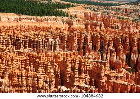 A beautiful view of inspiration point,bryce