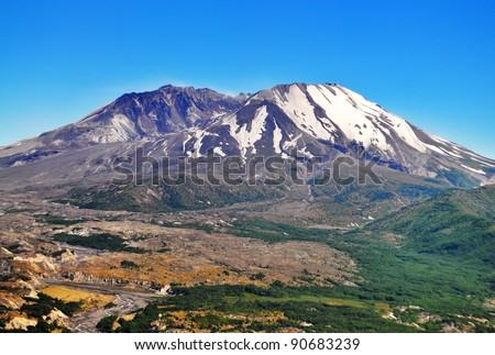 a beautiful view of mount saint ...