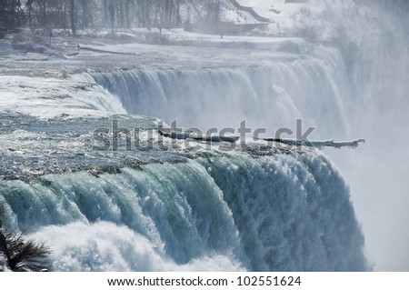 A Beautiful View of Niagra Falls During Winter