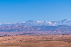 A beautiful view of the atlas mountain, Morocco