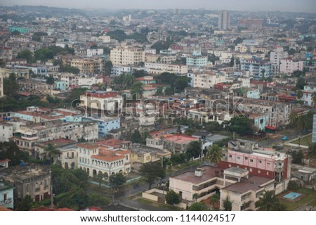 A beautiful view of the buildings in downtown Cuba