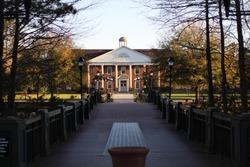A beautiful view of the Prince building at Coastal Carolina University