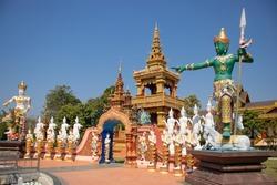 A beautiful view of Wat Saeng Kaew temple at Chiang Rai, Thailand.