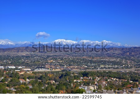 A beautiful view of Winter San Bernardino Mountains