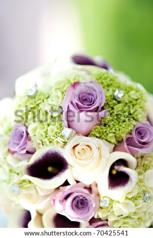 A beautiful wedding floral bouquet