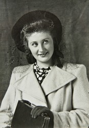 A beautiful young woman, old photos