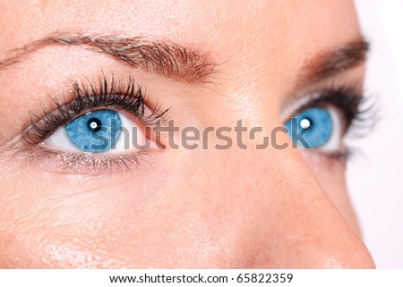A Beautiful young Woman's Eyes close up