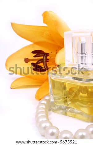 A beauty set with towels-lily perfume