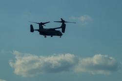 A Bell Boeing V-22 Osprey helicopter