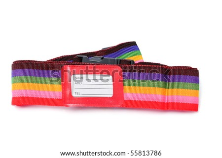 a belt to tie suitcases isolated on a white background