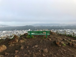a bench at the top of the grand view park san francisco usa