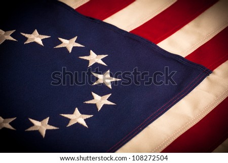 "A ""Betsy Ross"" 13 star American Flag"