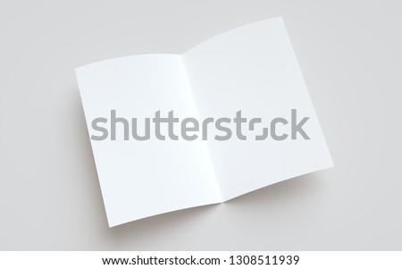 A4 Bi-Fold / Half-Fold Brochure Mock-Up