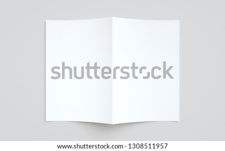 A4 Bi-Fold / Half-Fold Brochure Mock-Up
