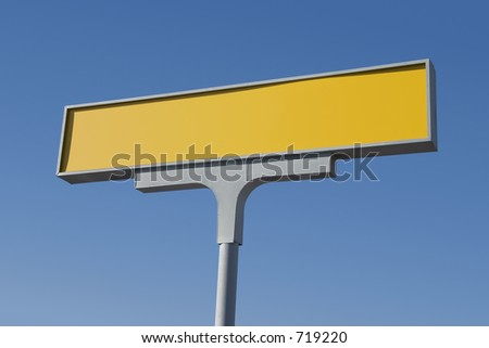A big blank yellow sign, waiting to recieve its message.